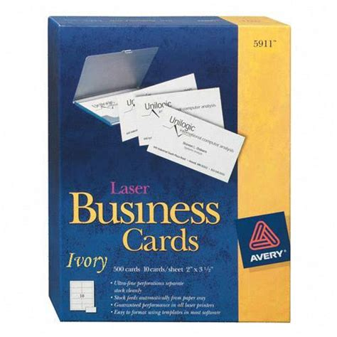perforated business cards template printer