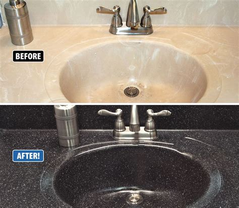 It S Common For Cultured Marble Sinks To Crack Around The How To Refinish Kitchen Sink