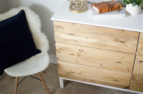 Diy bedroom dresser ikea tarva dresser hack
