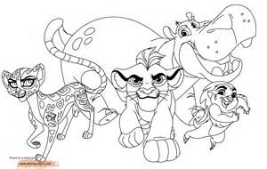 Lion Guard Coloring Pages Courtesy Of Disneyclipscom sketch template