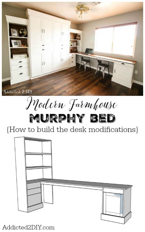 how to build a murphy bed free plans diy modern farmhouse murphy bed how to build the desk