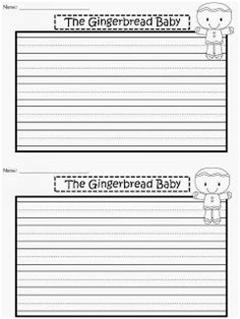 half sheet template free writing paper for the gingerbread baby by jan brett
