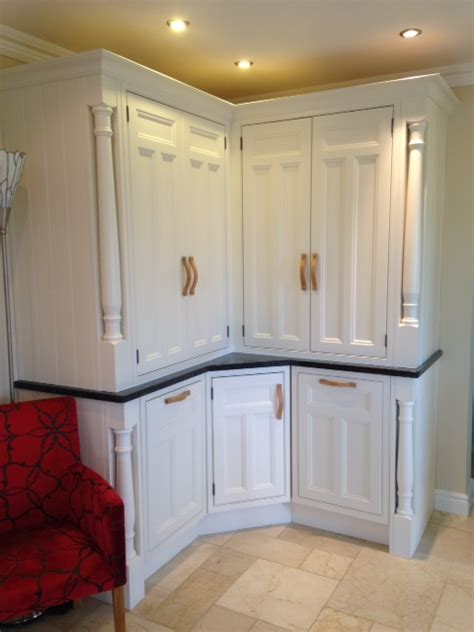 White Kitchen With Wood - kitchen larder unit tennyson