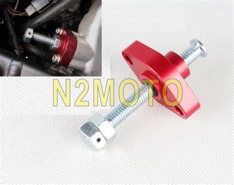Tensloner Assy Klx 150 cnc aluminum manual chain tensioner for honda crf 150r 250r 450r suzuki drz kawasaki klx
