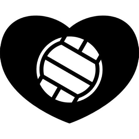imagenes de voleibol para dibujar faciles pelota de voleibol en un coraz 243 n descargar iconos gratis