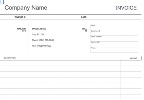 invoice template for work done 10 simple customizable invoice templates every freelancer