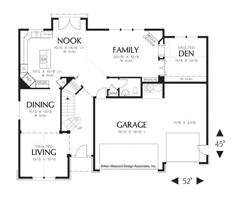 mascord floor plans mascord house plan 22141a house plans ceilings and floor plans