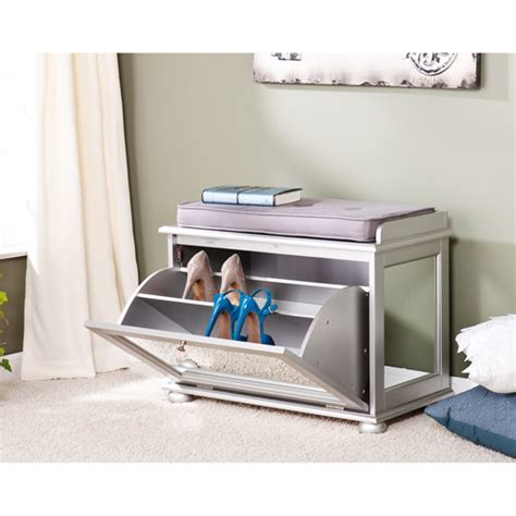 Walmart Entryway Furniture ruby mirrored entryway shoe bench silver walmart