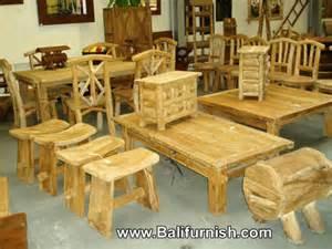 Rustic furniture from indonesia teak stools chairs teak wood furniture