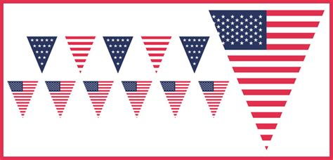 free printable usa banner 8 best images of american flag bunting printable