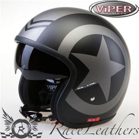 Arl Helm Visor Motif 013 viper rsv06 matt black motorcycle motorbike cruiser open helmet ebay