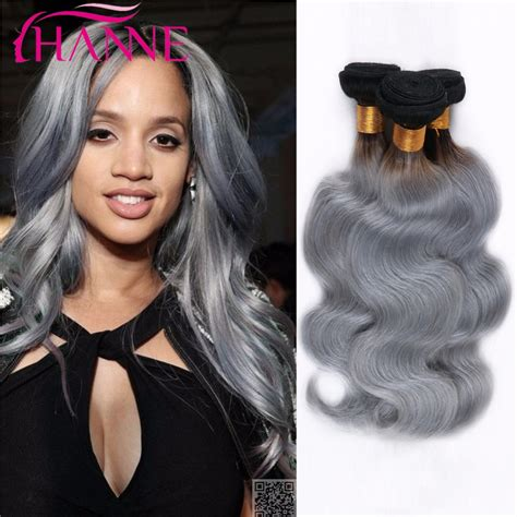 body wave on gray hair ombre ash grey color brazilian body wave human hair