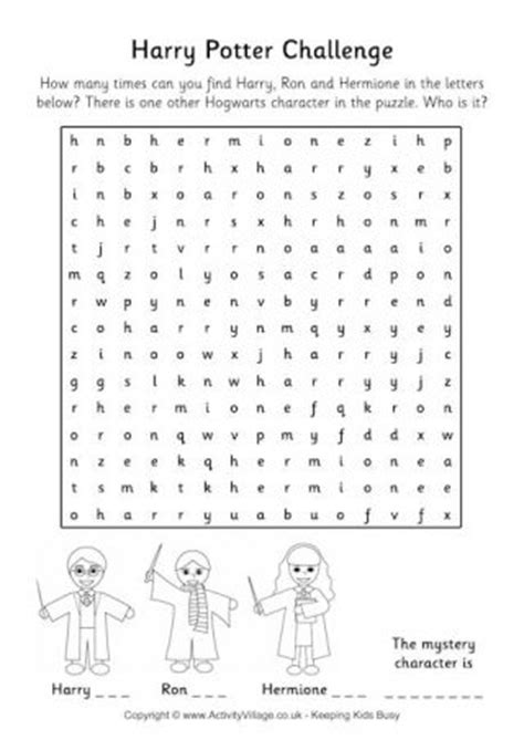 printable word search harry potter younger harry potter fans can have a go at our maze