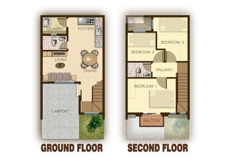 town house plans 2 story townhouse floor plan for sale 17 best images about