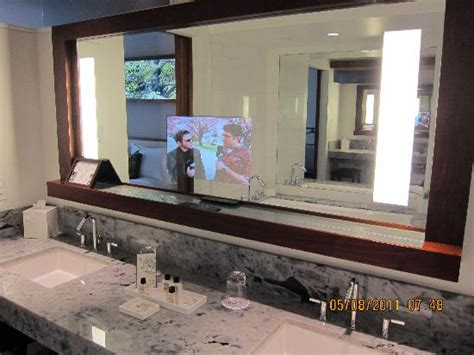 bathroom television mirror tv in bathroom mirror picture of fairmont pacific rim