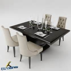 Dining Table Set Models 3d Model Dining Dining Table Set Cgtrader