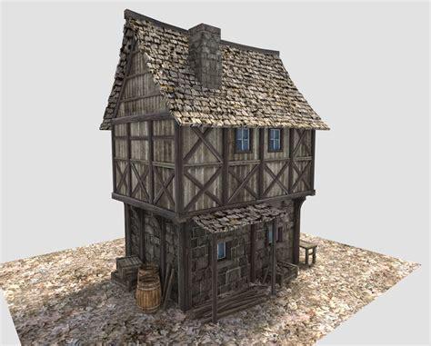 medieval village house 3D Model .obj .3ds .fbx .blend .dae