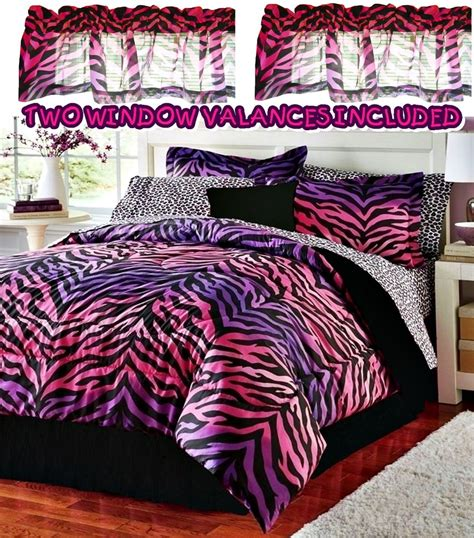 purple leopard print comforter set girls pink purple zebra leopard animal print twin 9pc