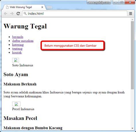 membuat web sederhana dengan html css dan javascript cara membuat website sederhana dunia i t