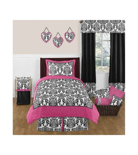 hot pink and black bedding black and hot pink bedding