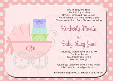 template exle of baby shower invitation