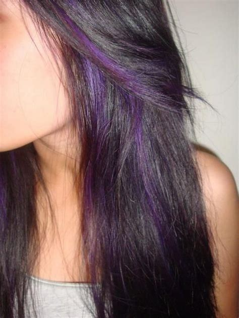 purple shoo for purple highlights 50 stylish highlighted hairstyles for black hair 2017