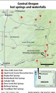 springs oregon map warm up with springs cool with waterfalls in
