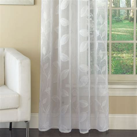 embroidered sheer curtains avery semi sheer embroidered grommet curtain panels