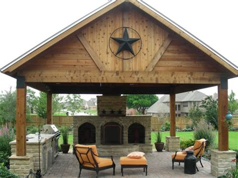 Outdoor Covered Patios Arbors Fences Stone Work In Covered Patio Design
