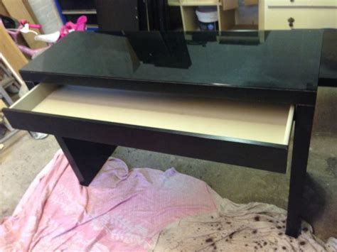 malm dressing table black ikea malm dressing table desk glass top black smart table