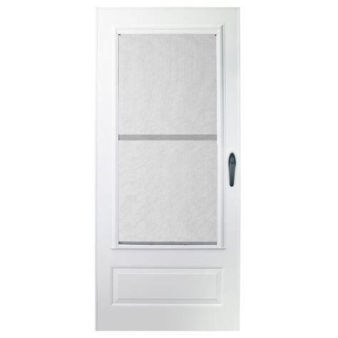 Emco Door by Emco 32 In X 80 In 100 Series Plus White Self Storing