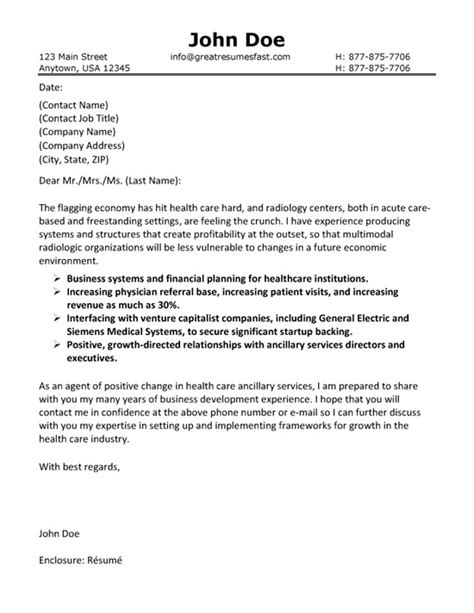 Health Care Cover Letter Example