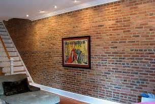 Fake Exposed Brick Wall by Create An Exposed Brick Veneer Wall In Your Home How To