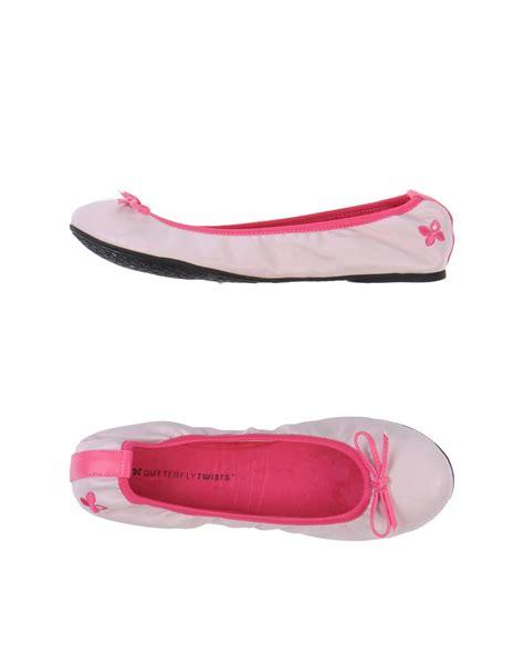 Balet Twist Flat Shoes butterfly twists ballet flats in pink lyst