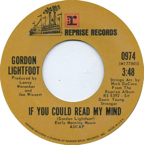 gordon lightfoot if you could read my mind random thoughts for saturday november 16th 2013 country