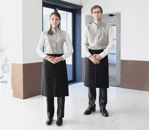 Apron Celemek Fashion Chef Barista working wear guoup amont restaurant barista bar work wear grey shirts