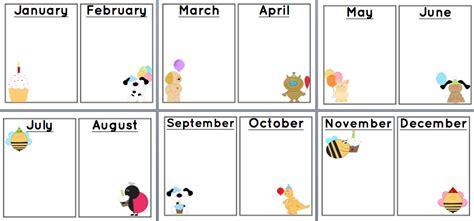 sunshine and teaching free printable birthday chart