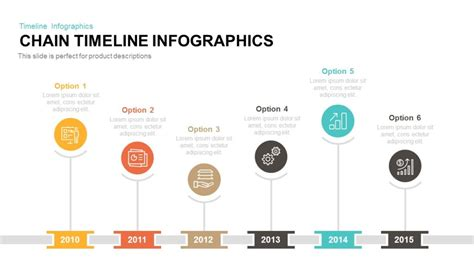 keynote timeline template chain timeline infographics powerpoint and keynote