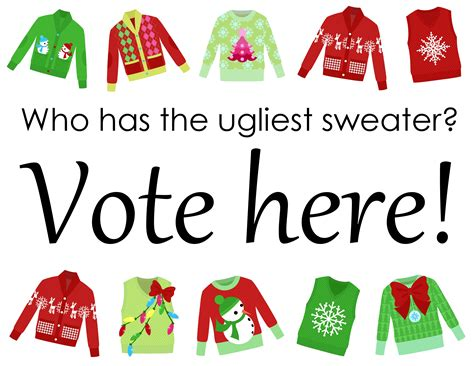 printable ugly christmas sweater ugly sweater party free printables the country chic cottage