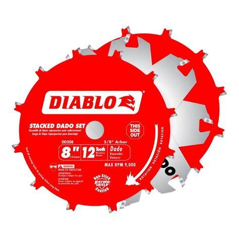 diablo 10 table saw blades diablo 8 in x 12 tooth stacked dado saw blade set dd208h