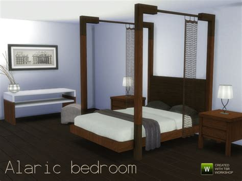 mod 4 sims bed the sims 4 custom content alaric bedroom set