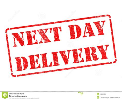 day delivery next day delivery on rubber st stock photo image