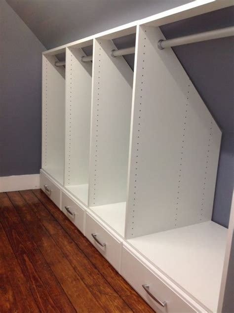 Slanted Ceiling Closet Design by Narrow Closet Slanted Ceiling And Closet On