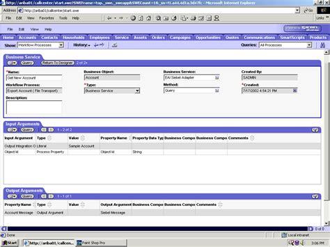 workflow siebel using siebel workflows