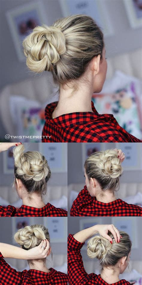 casual hairstyles for dirty hair 25 best ideas about casual bun on pinterest fan bun