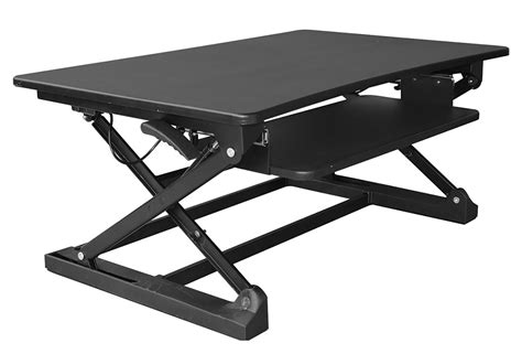 desk top stand up desk xec fit adjustable height convertible sit to stand up desk