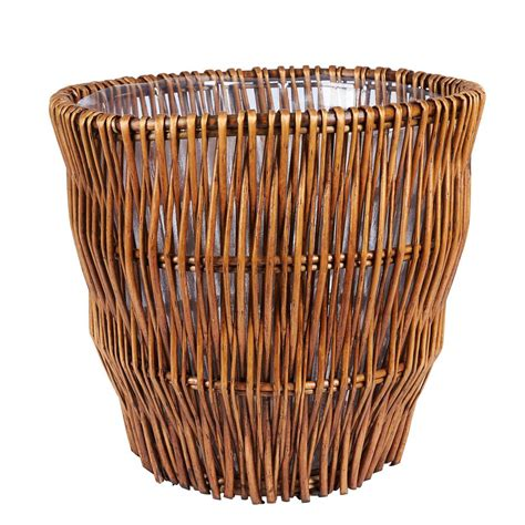 waste basket umbra brim 13 gal plastic touchless waste basket 084200