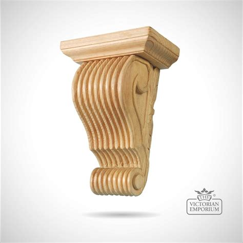 Large Decorative Corbels Large Reeded Corbel With Scroll Bottom Corbels