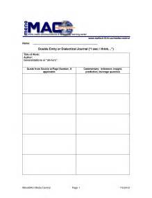 dialectical journal template dialectical journal template the theory of ideal