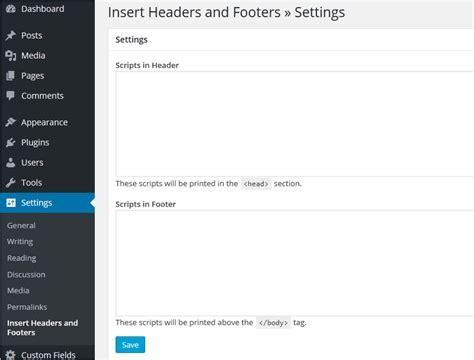 wordpress header layout plugin how to add header footer script code in wordpress